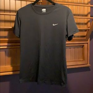Nike black short sleeve top, dry fit, Size S.